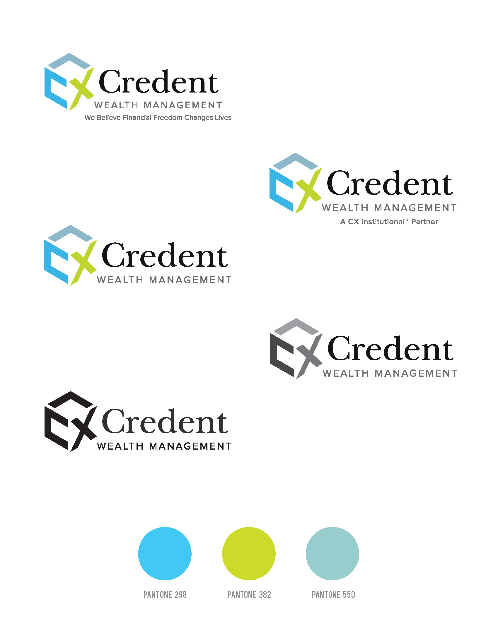 Credent Wealth Management Logo and Icon Design Submission