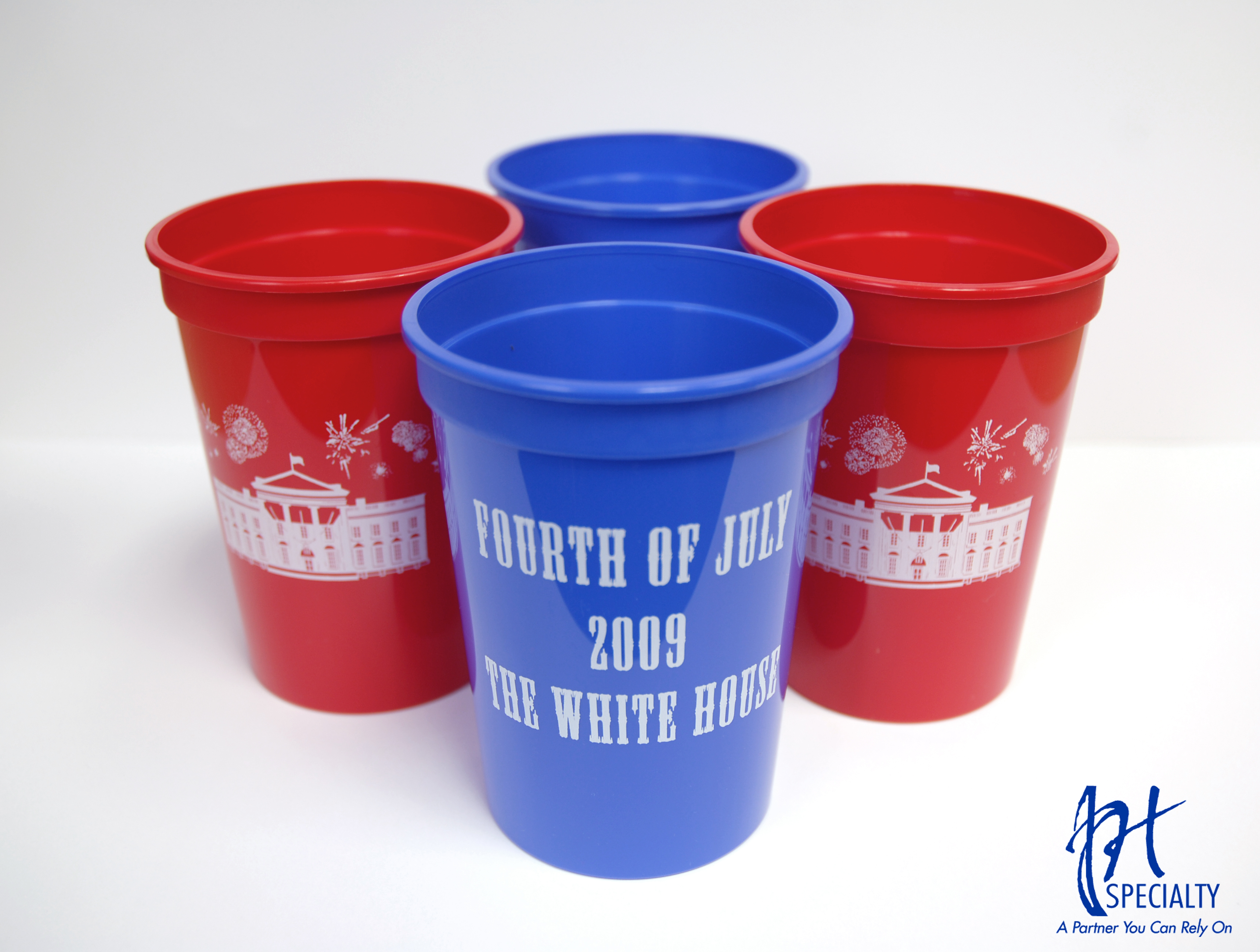 White House 4th of July Cups