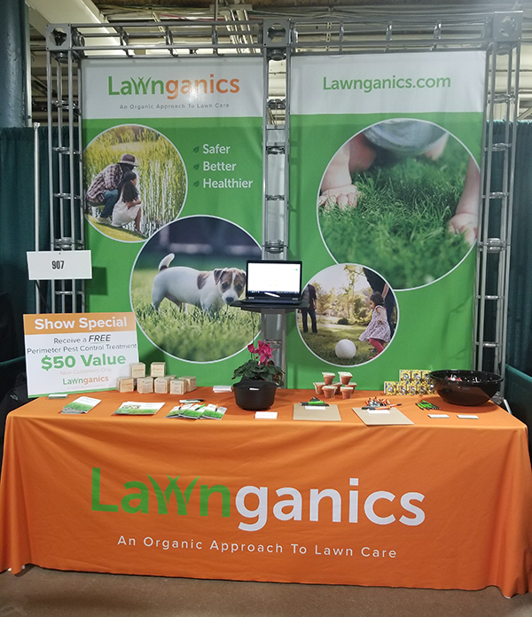 Lawnganics Home & Garden Show Booth
