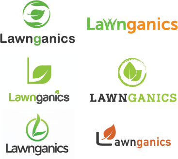 Lawnganics Logo Options